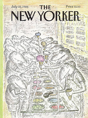 Food Painting - New Yorker July 22nd, 1985 by Edward Koren