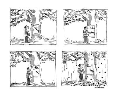 The Trees Drawing - New Yorker July 22nd, 1991 by James Stevenson