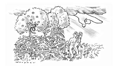 Bible Drawing - New Yorker July 22nd, 1996 by Bill Woodman