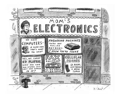 Electronic Drawing - New Yorker July 22nd, 1996 by Roz Chast