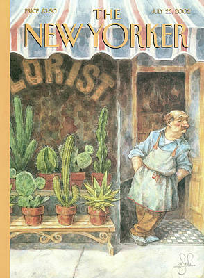 Owner Painting - New Yorker July 22nd, 2002 by Peter de Seve