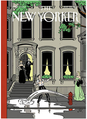 2001 Painting - New Yorker July 23rd, 2001 by Jean Claude Floc'h
