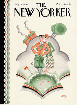 Golfer Painting - New Yorker July 24th, 1926 by Ralph Jester