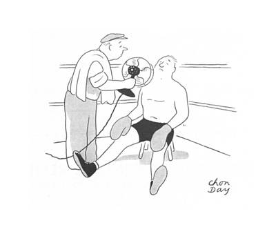 Boxer Drawing - New Yorker July 24th, 1943 by Chon Day