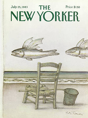 Net Painting - New Yorker July 25th, 1983 by Andre Francois