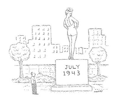 Monument Drawing - New Yorker July 25th, 1988 by Robert Mankoff