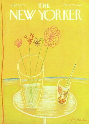 Lemonade Painting - New Yorker July 26th, 1976 by Eugene Mihaesco