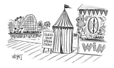 Sideshow Drawing - New Yorker July 26th, 1999 by Christopher Weyant