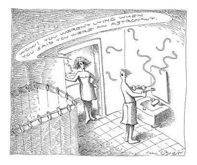 Astronauts Drawing - New Yorker July 26th, 1999 by John O'Brien