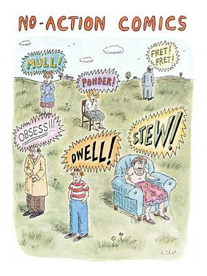 Comic Book Drawing - New Yorker July 26th, 1999 by Roz Chast