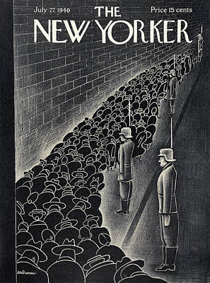 Military Painting - New Yorker July 27th, 1940 by Christina Malman