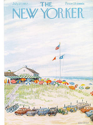 1957 Painting - New Yorker July 27th, 1957 by Edna Eicke