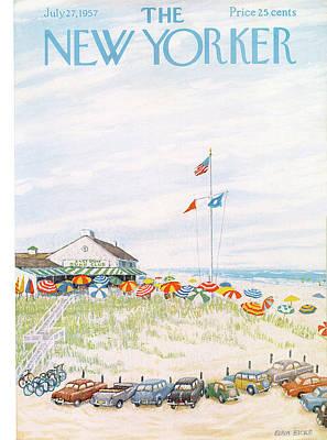 New Yorker July 27th, 1957 Art Print by Edna Eicke