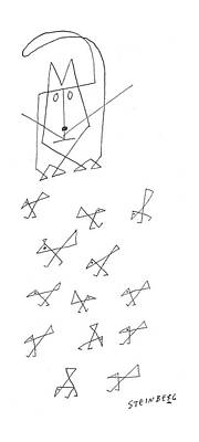 Geometry Drawing - New Yorker July 27th, 1957 by Saul Steinberg
