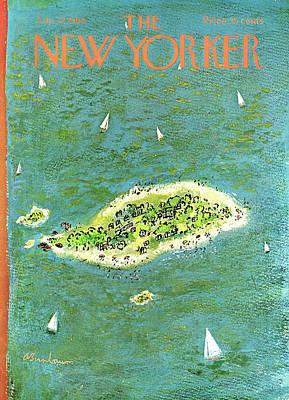 Abe Birnbaum Painting - New Yorker July 27th, 1968 by Abe Birnbaum