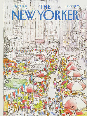 Food Painting - New Yorker July 27th, 1981 by Arthur Getz