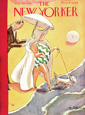 Painting - New Yorker July 28th, 1928 by Helen E Hokinson