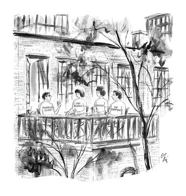Hamptons Drawing - New Yorker July 28th, 1986 by Everett Opie