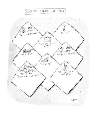 How Are You Drawing - New Yorker July 28th, 1986 by Roz Chast