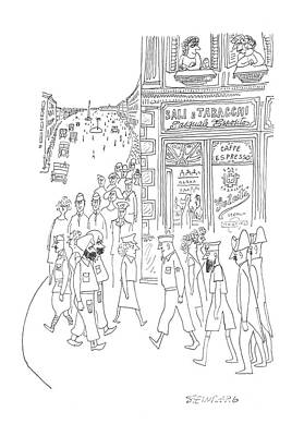 Montage Drawing - New Yorker July 29th, 1944 by Saul Steinberg