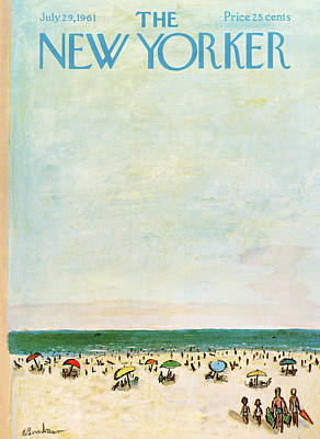 Relaxation Painting - New Yorker July 29th, 1961 by Abe Birnbaum
