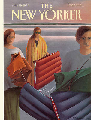 Simpson Painting - New Yorker July 29th, 1991 by Gretchen Dow Simpson