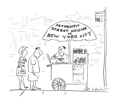Hot Dog Stands Drawing - New Yorker July 29th, 1996 by Arnie Levin