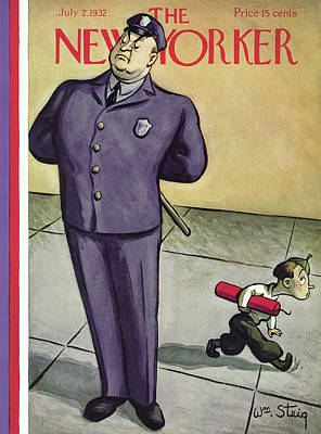 Attention Painting - New Yorker July 2nd, 1932 by William Steig