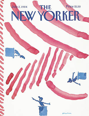 Podium Painting - New Yorker July 2nd, 1984 by R.O. Blechman