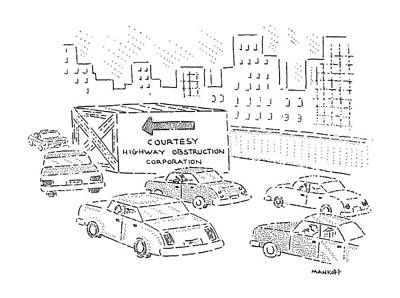 Street Car Drawing - New Yorker July 2nd, 1990 by Robert Mankoff