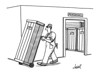 Crate Drawing - New Yorker July 2nd, 1990 by Tom Chene
