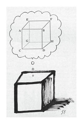 Thought Drawing - New Yorker July 30th, 1960 by Saul Steinberg