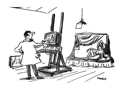 Computer Art Drawing - New Yorker July 30th, 1990 by Frank Modell