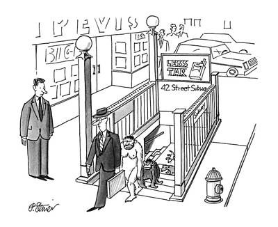 History Drawing - New Yorker July 30th, 1990 by Peter Steiner