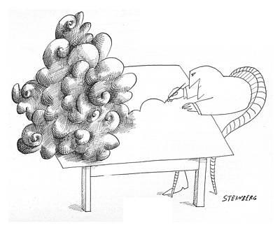 New Yorker July 31st, 1965 Art Print by Saul Steinberg