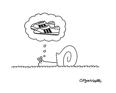 Jogging Drawing - New Yorker July 31st, 1978 by Charles Barsotti