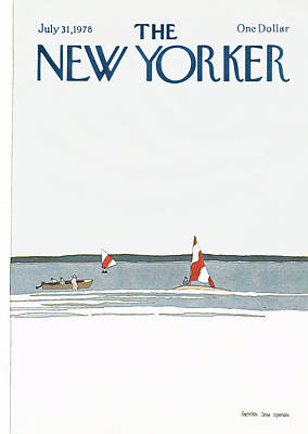 Simpson Painting - New Yorker July 31st, 1978 by Gretchen Dow Simpson