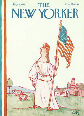 Liberty Painting - New Yorker July 3rd, 1978 by William Steig