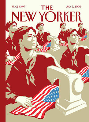 Flag Painting - New Yorker July 3rd, 2006 by Christoph Niemann