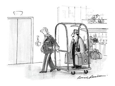 Rack Drawing - New Yorker July 4th, 1988 by Bernard Schoenbaum