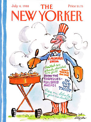 Uncle Sam Painting - New Yorker July 4th, 1988 by Lee Lorenz