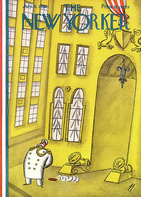 Library Painting - New Yorker July 5th, 1930 by Julian de Miskey