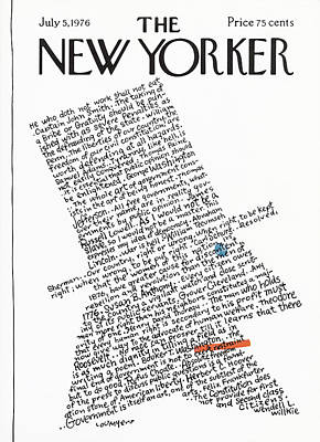 President Painting - New Yorker July 5th, 1976 by Lou Myers