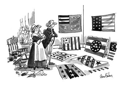 Stripe Drawing - New Yorker July 5th, 1993 by Dana Fradon