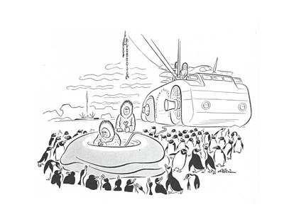 Arctic Drawing - New Yorker July 6th, 1940 by  Alain