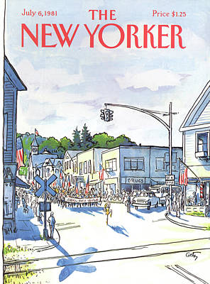 Fourth Of July Painting - New Yorker July 6th, 1981 by Arthur Getz