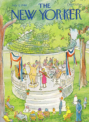 July Painting - New Yorker July 7th, 1980 by George Booth
