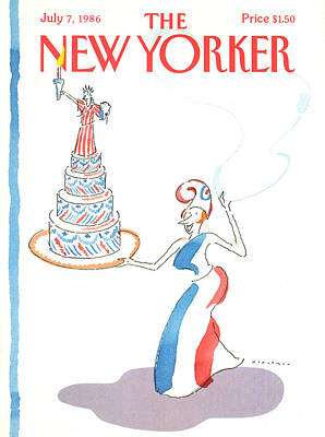 Patriotism Painting - New Yorker July 7th, 1986 by R.O. Blechman