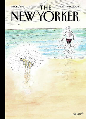 Painting - New Yorker July 7th, 2008 by Jean-Jacques Sempe