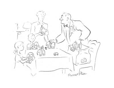 Republican Drawing - New Yorker July 8th, 1944 by Garrett Price